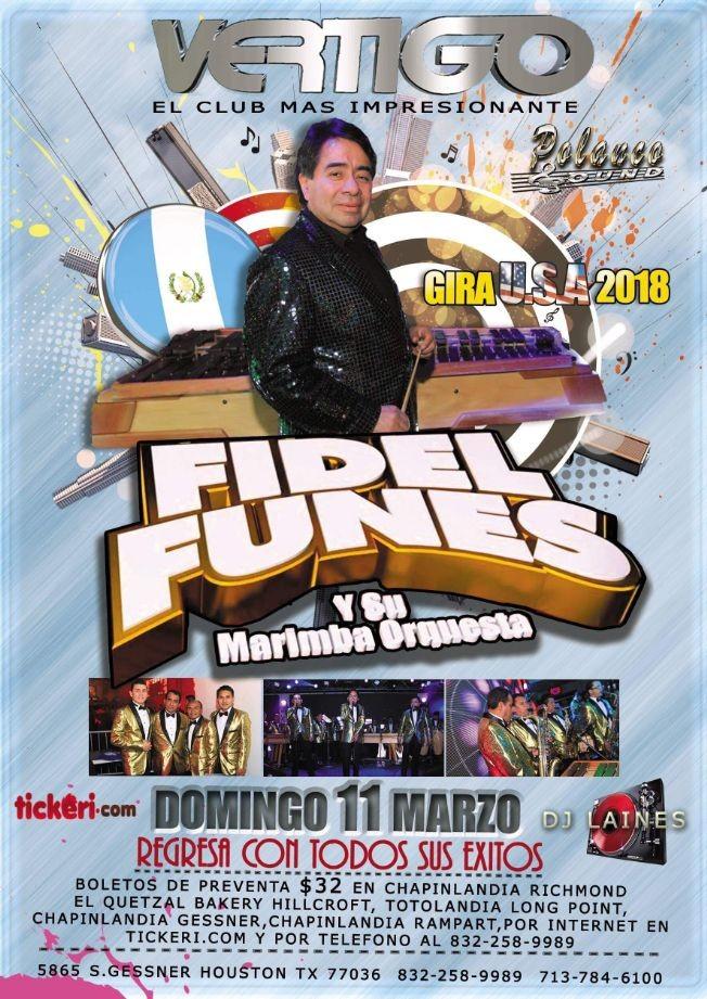 Flyer for Fidel Funes y su Marimba Orquesta