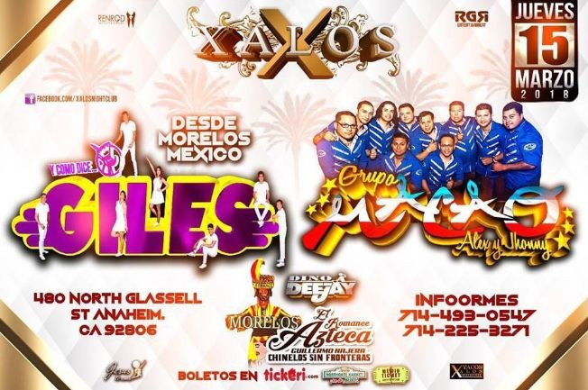 Flyer for Grupo Macao y Giles