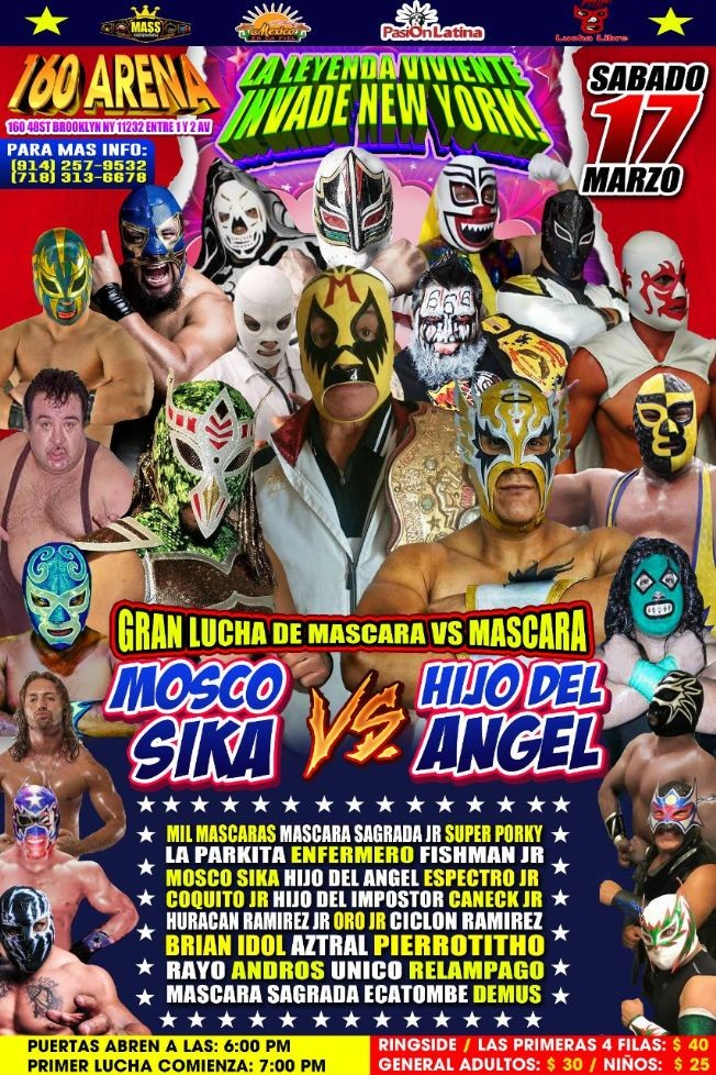 Flyer for La Leyenda Viviente Invade New York