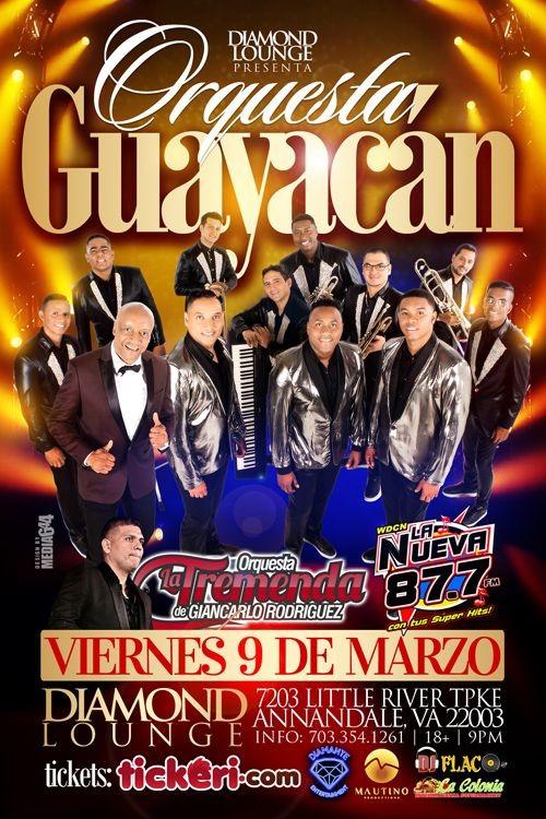 Flyer for Orquesta Guayacan
