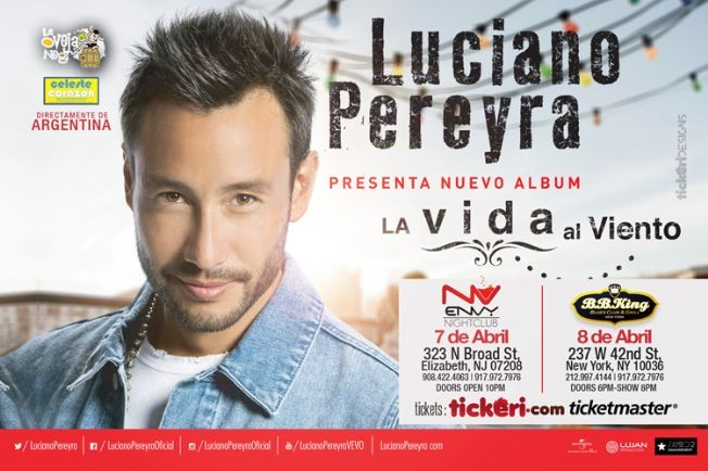 Flyer for Luciano Pereyra