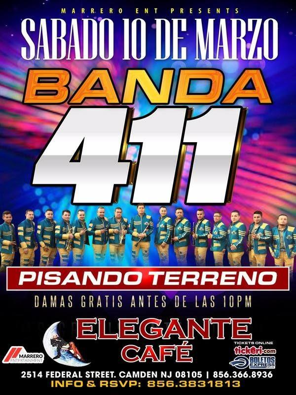 Flyer for Banda 411 Pisando Terreno en Camden,NJ