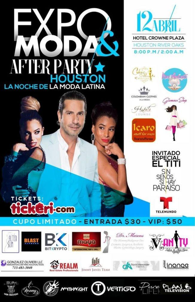 Flyer for Expo Moda & After Party en Houston,TX