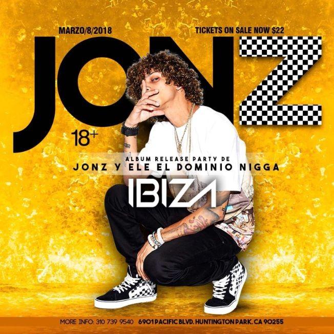 Flyer for Jon Z en Huntington Park,CA
