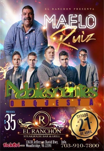Flyer for Maelo Ruiz y Adolescentes Orquesta