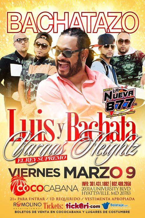 Flyer for Luis Vargas & Bachata Heightz