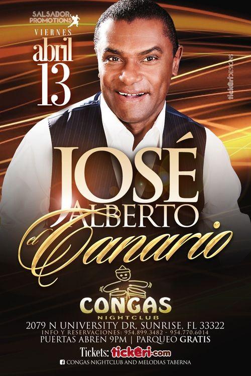 Flyer for Jose Alberto El Canario