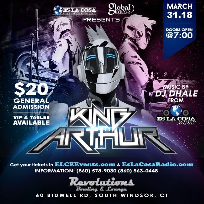 Flyer for DJ. KING ARTHUR