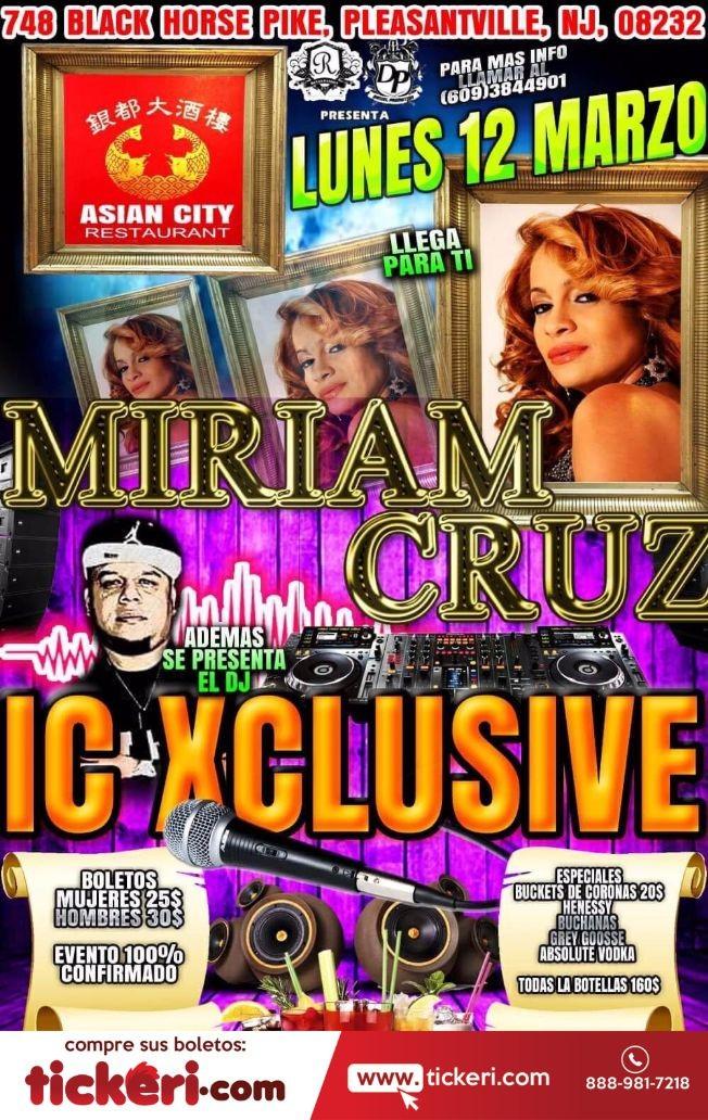 Flyer for Miriam Cruz