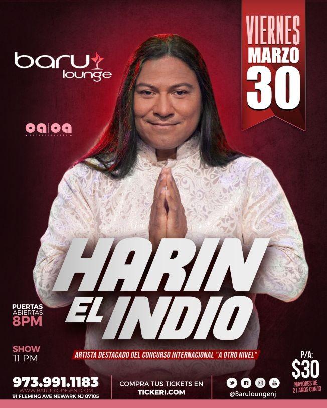 Flyer for Harin el Indio en New Jersey