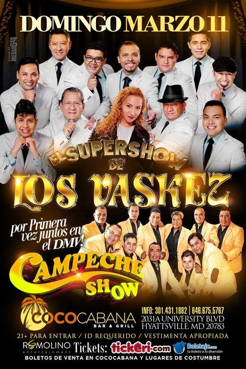 Flyer for Bailazo de Cumbia.El Supershow de Los Vaskez & Campeche Show.