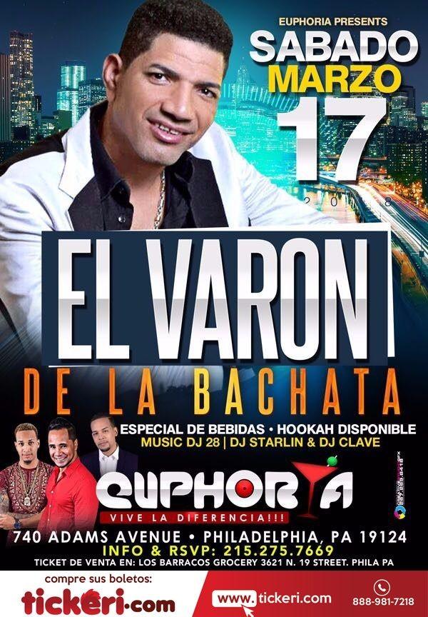 Flyer for El Varon de La Bachata