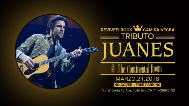 Flyer for Tributo a Juanes
