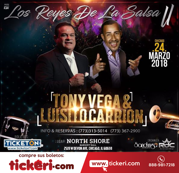 Flyer for Tony Vega & Luisito Carrion