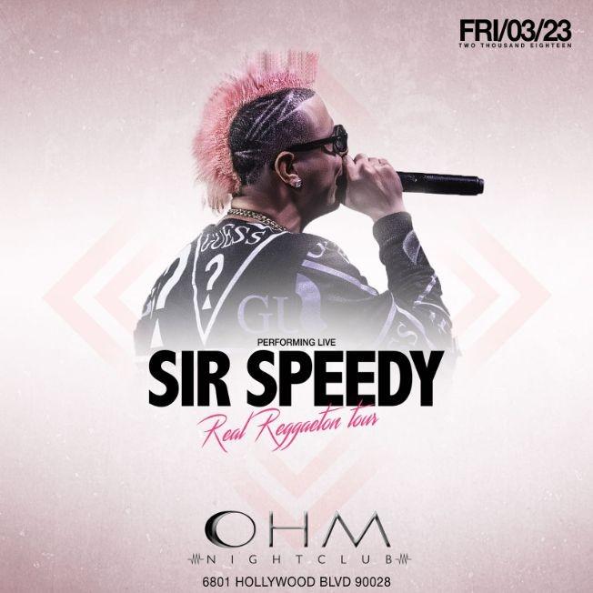 Flyer for Sir Speedy Real Reggaeton Tour