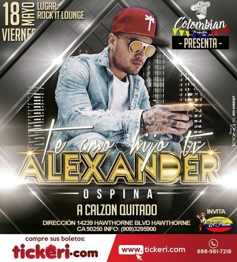 Flyer for Alexander Ospina en Hawthorne,CA