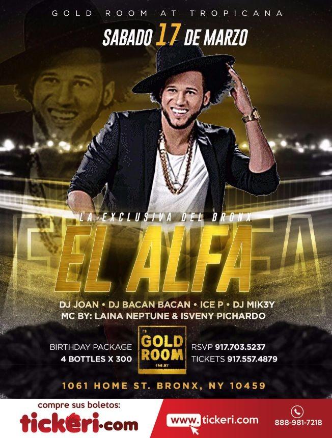 Flyer for El Alfa