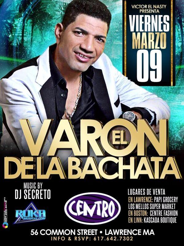 Flyer for El Varon de La Bachata en Lawrence,MA