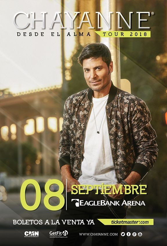 Flyer for Chayanne - Desde el Alma Tour 2018
