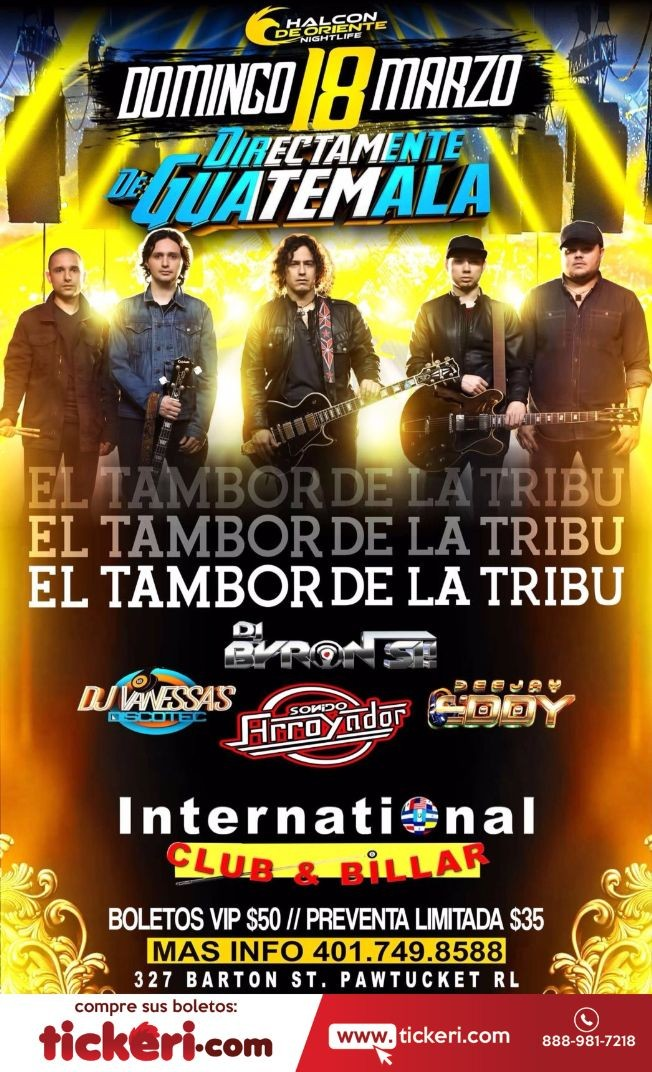 Flyer for El Tambor de La Tribu