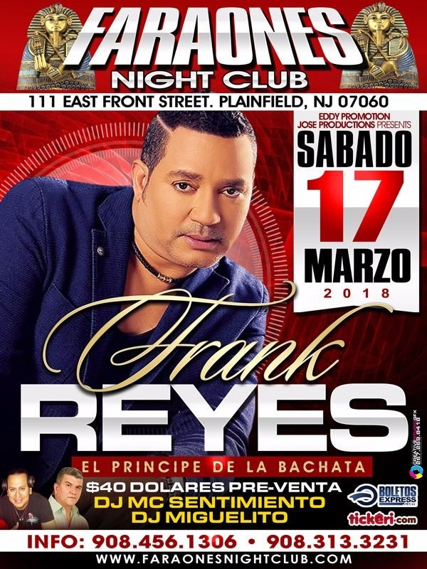 Flyer for Frank Reyes en Plainfield,NJ