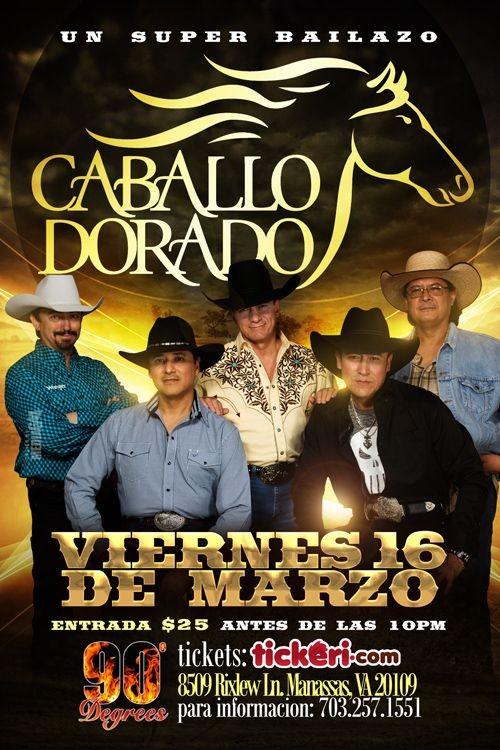Flyer for Caballo Dorado en Manassas,VA