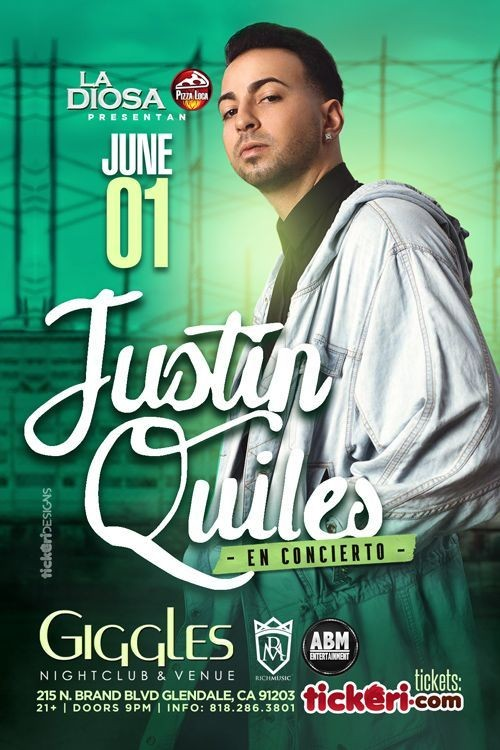 Flyer for JUSTIN QUILES EN LOS ANGELES