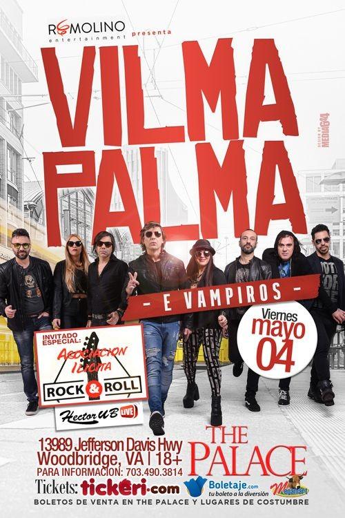 Flyer for Vilma Palma e Vampiros en Virginia