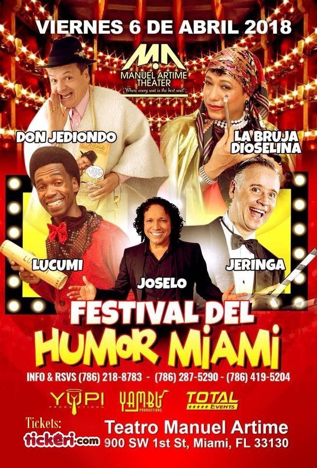 Flyer for Festival del Humor con Don Jediondo, La Bruja Dioselina, Lucumi, Joselo, Jeringa