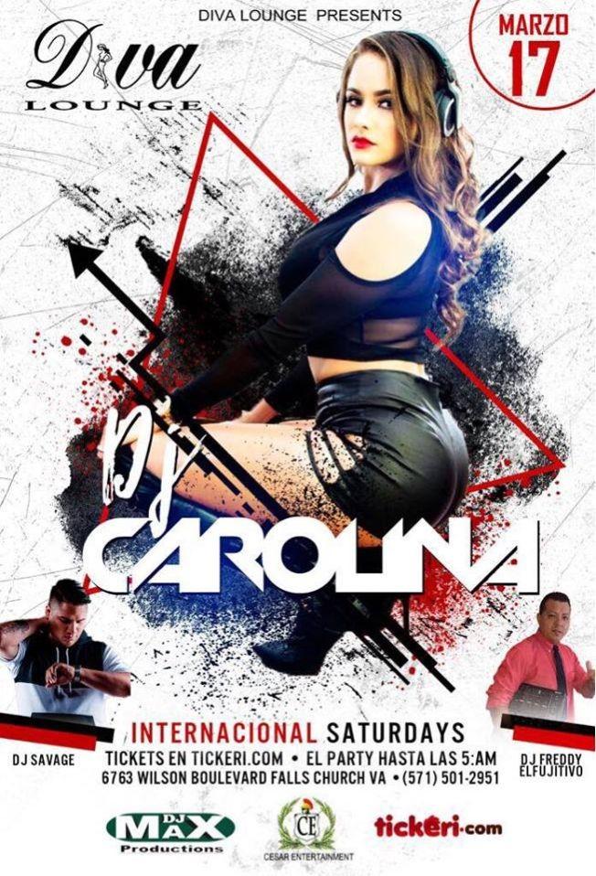 Flyer for DJ Carolina