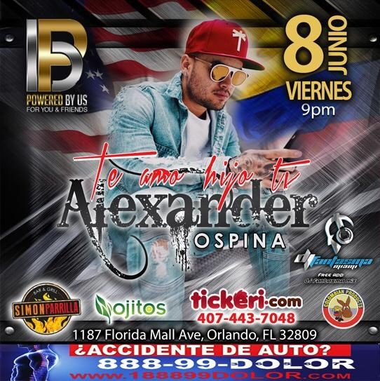 Flyer for Alexander Ospina en Orlando,FL
