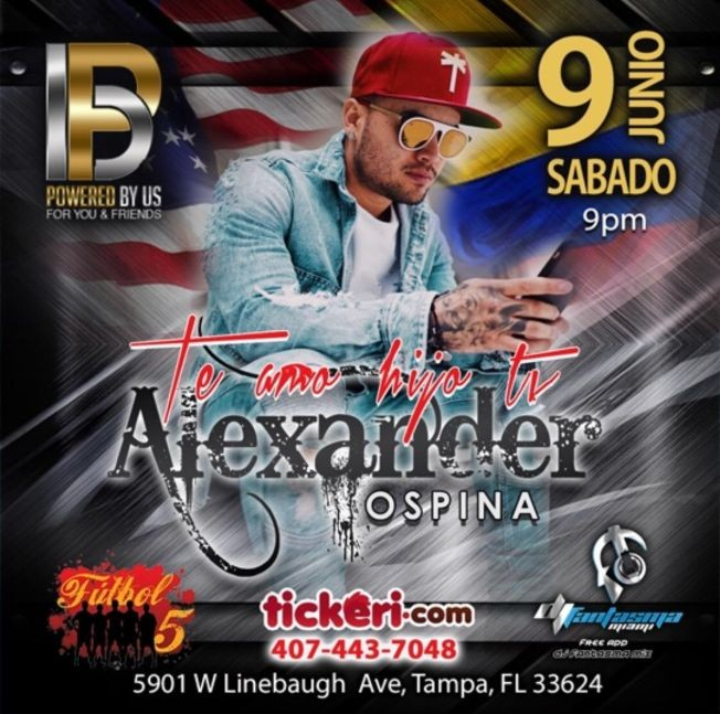 Flyer for Alexander Ospina & Larry Duran en Tampa,FL