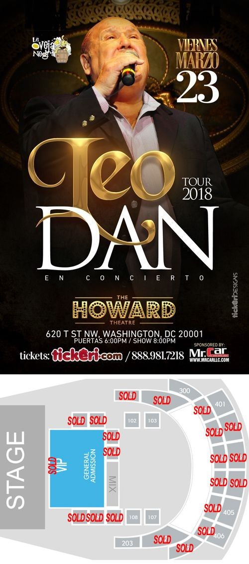 Flyer for Leo Dan en Washington DC