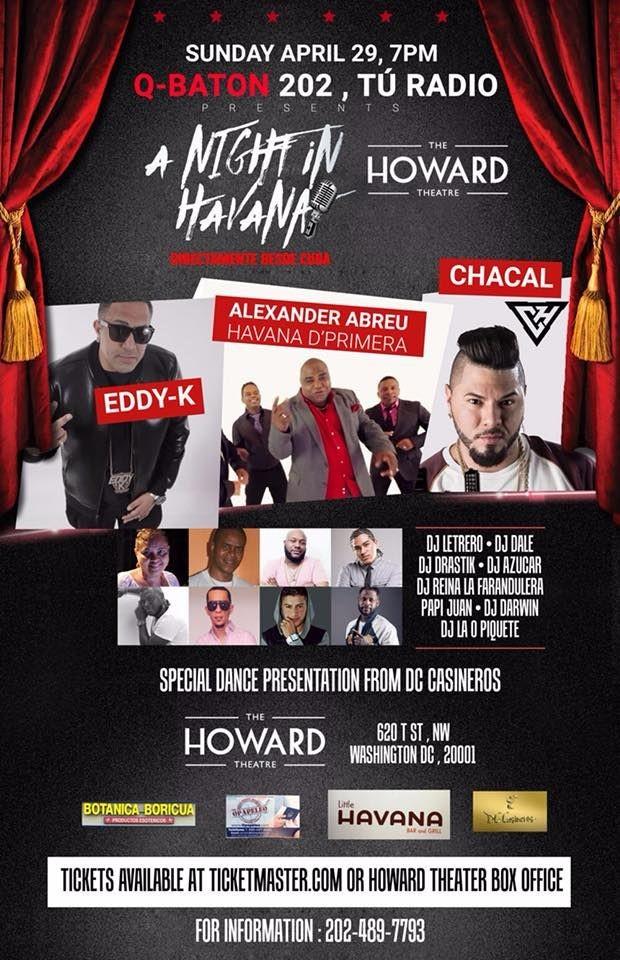 Flyer for Havana D' Primera & El Chacal