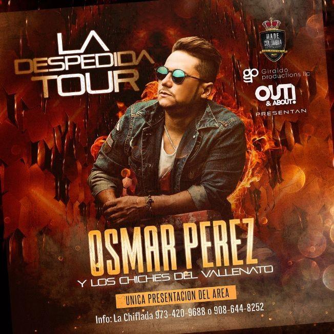 Flyer for OSMAR PEREZ Y LOS CHICHES DEL VALLENATO