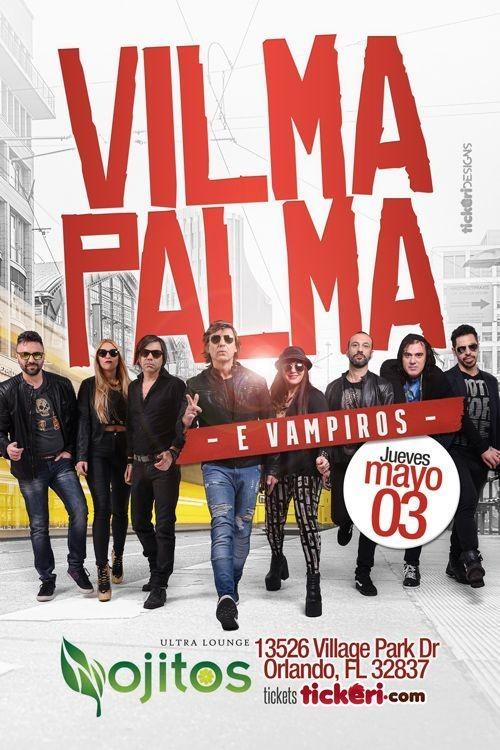 Flyer for Vilma Palma e Vampiros e Orlando,FL