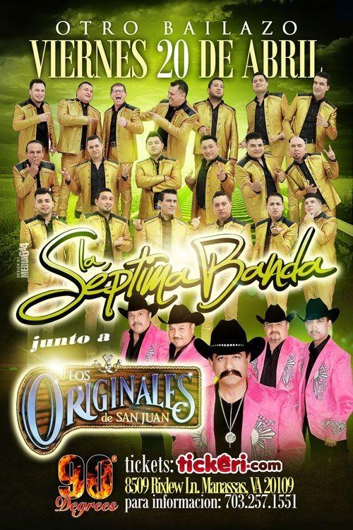 Flyer for La Septima Banda junto a Los Originales de San Juan