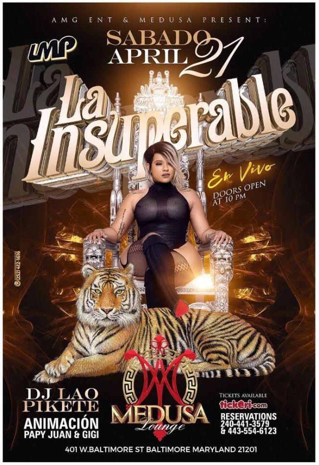 Flyer for La Insuperable La Mami Del Swagger En Vivo