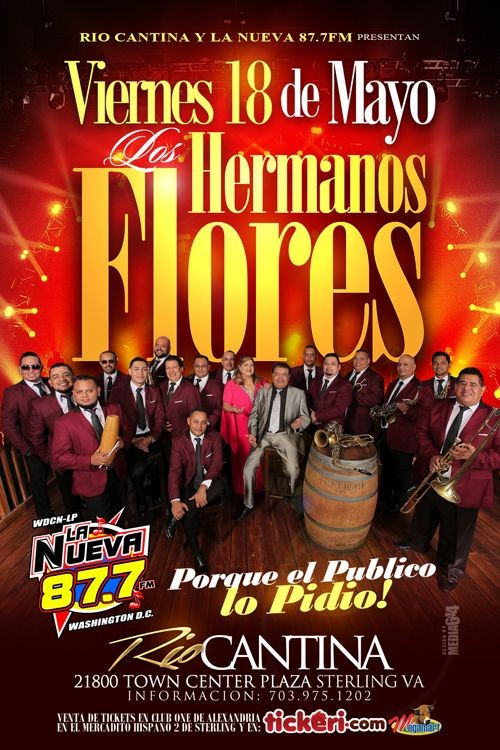 Flyer for Los Hermanos Flores
