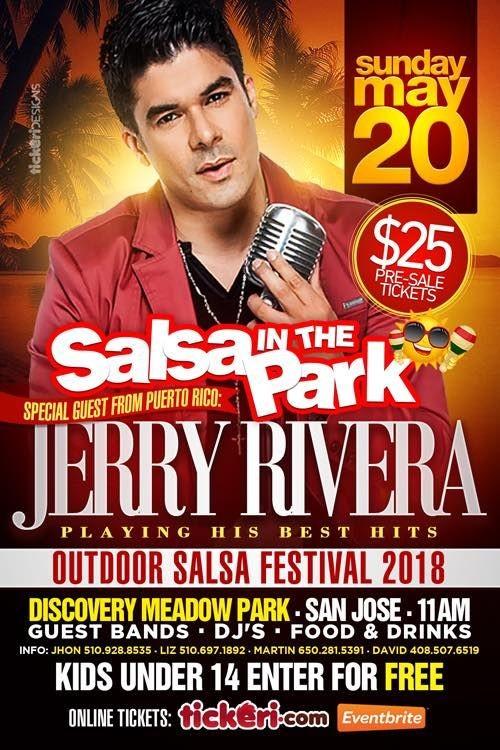 Flyer for Jerry Rivera en concierto @ Salsa in the Park