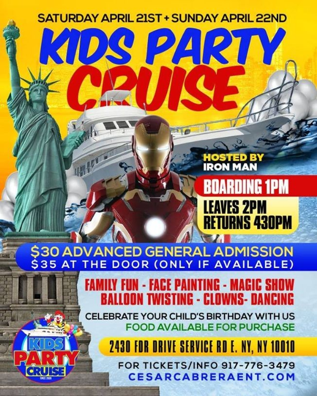 Flyer for Kids Party Cruise