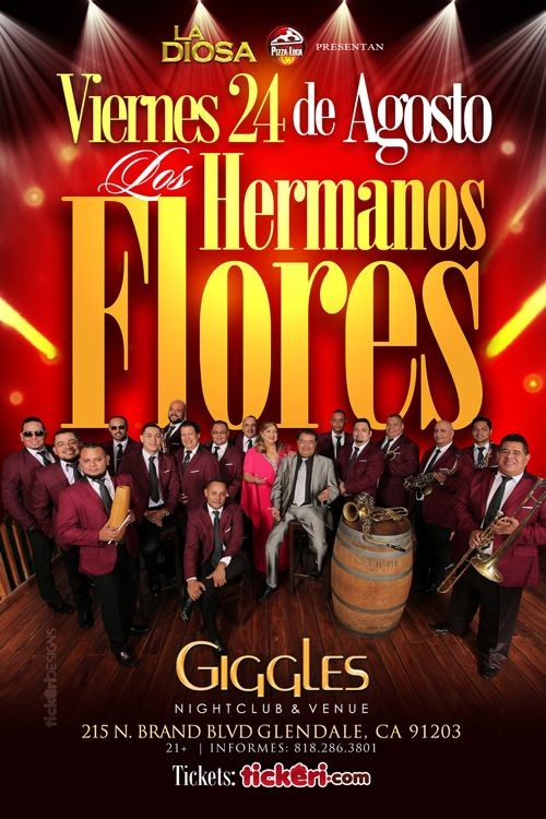 Flyer for LOS HERMANOS FLORES EN LOS ANGELES