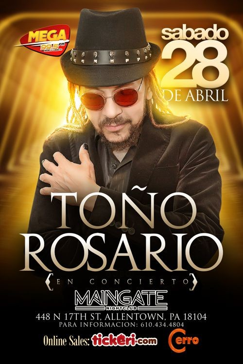 Flyer for Toño Rosario en Allentown,PA
