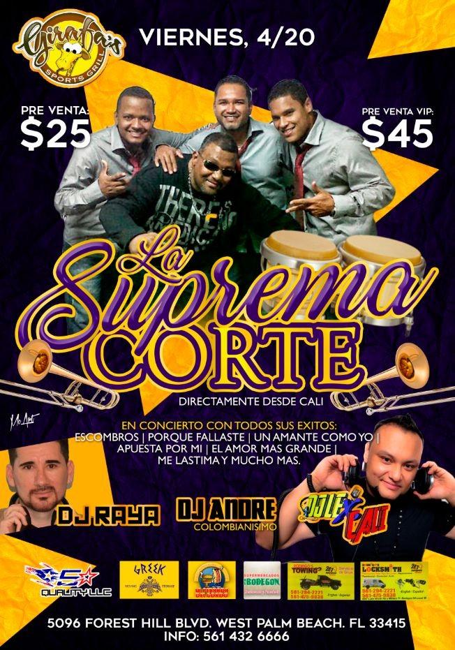 Flyer for SALSA: La SUPREMA CORTE en Concierto @Girafa's !!!