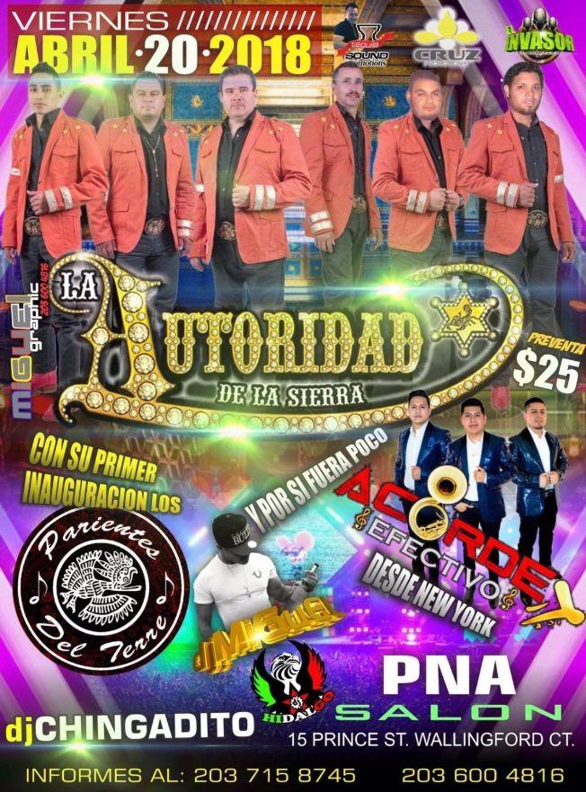Flyer for La Autoridad de La Sierra