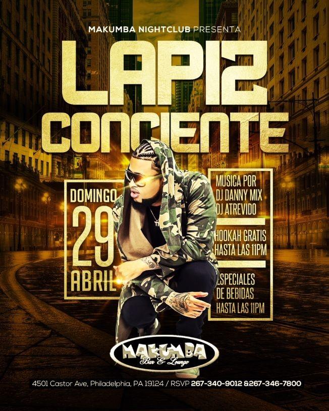 Flyer for Lapiz Conciente en Philadelphia,PA