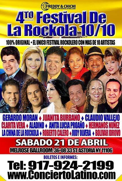 Flyer for FESTIVAL DE LA ROCKOLA 2018 EN NEW YORK