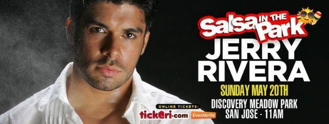 Flyer for Jerry Rivera: Salsa in the Park