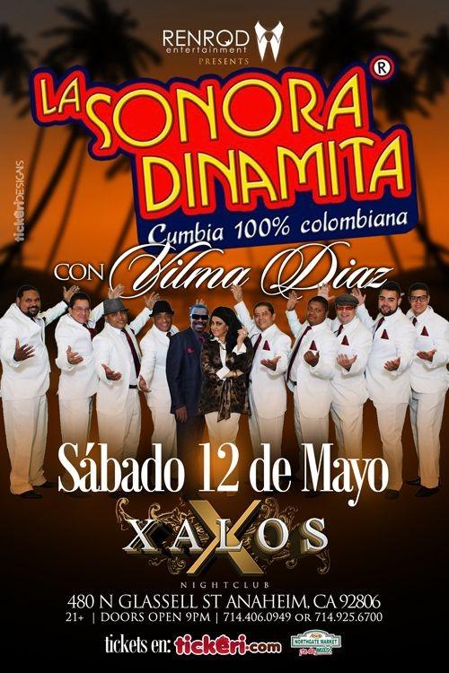 Flyer for La Sonora Dinamita en Anaheim