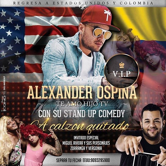 Flyer for Alexander Ospina en Chicago,IL